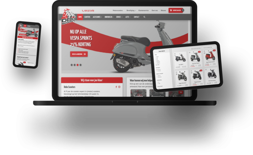 Debo Scooters SOO online project