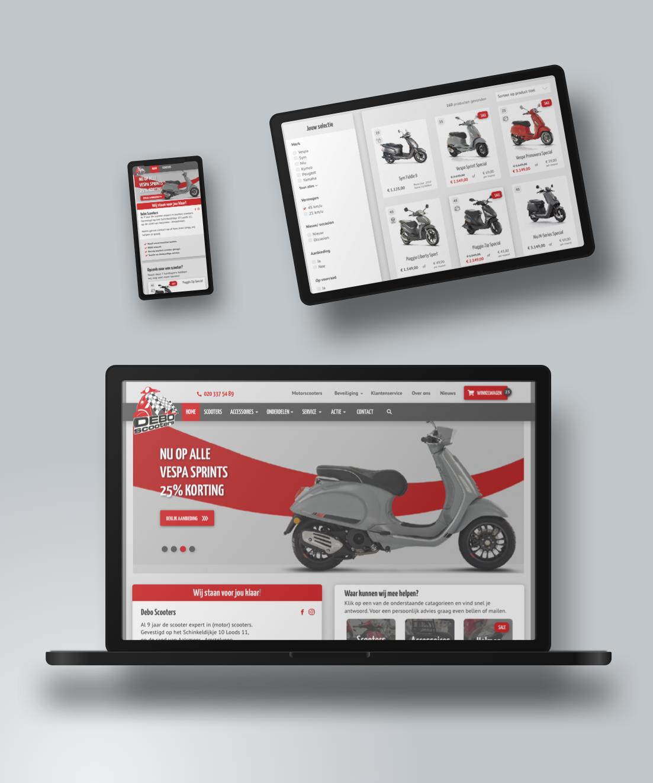 Debo Scooters                                                 Webwinkel en Marketing door SOO Online.