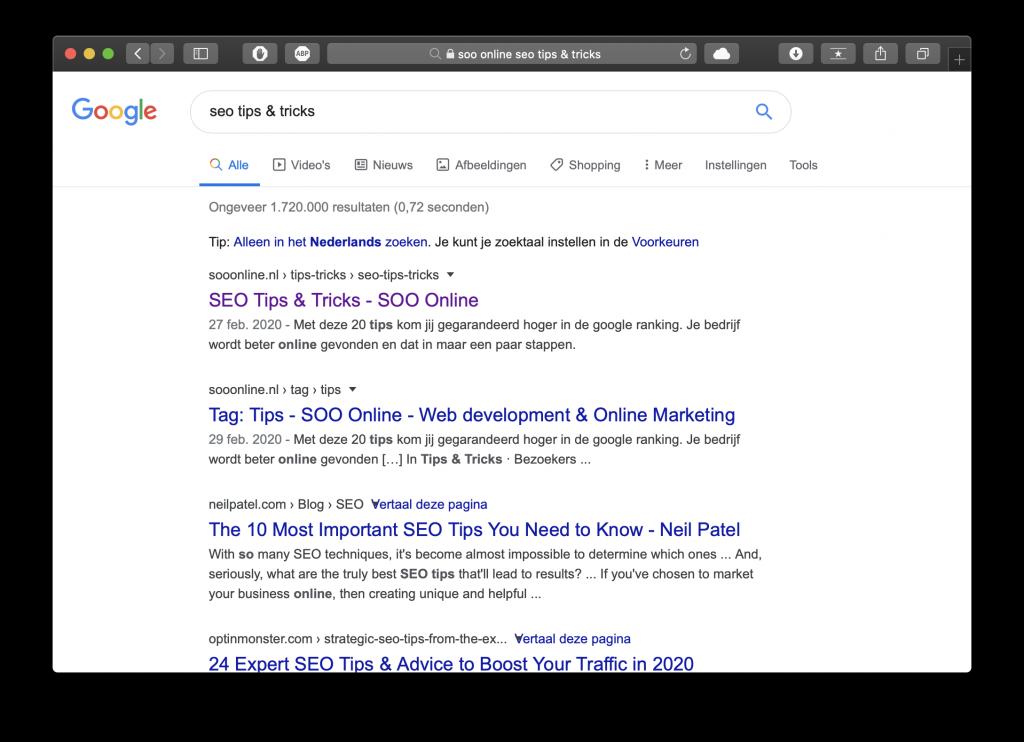 SOO Online soo tips & tricks titel optimalisatie.
