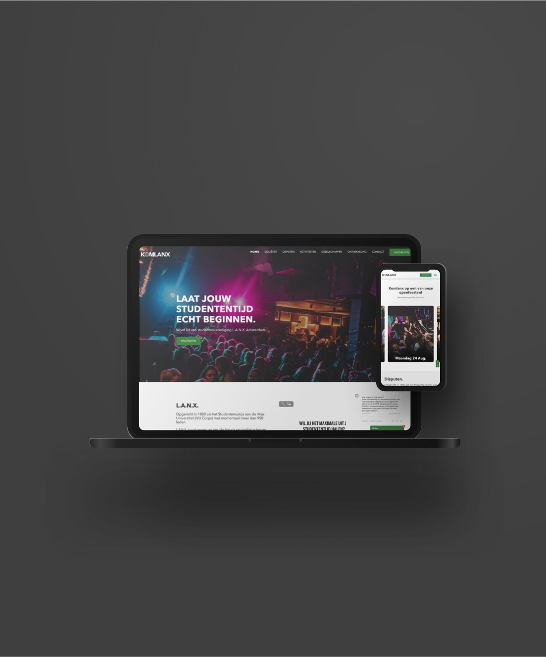 L.A.N.X. - Amsterdam                                                     Rebranding twee websites door SOO Online.